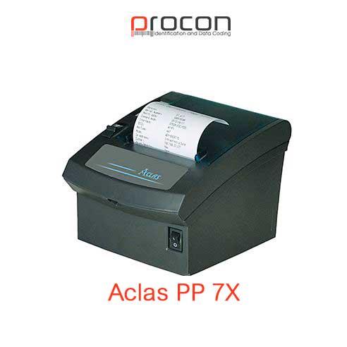 Aclas PP7X çek printeri sürətli, etibarlı, səmərəli və yığcamdır. Kağız ilişmələrini azaltmaqla itkini minimuma endirir. Yüksəl keyfiyyətə