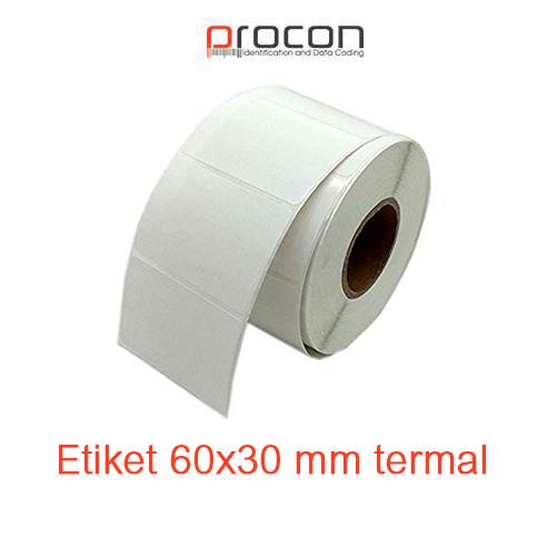 Etiket 60x30 mm termal