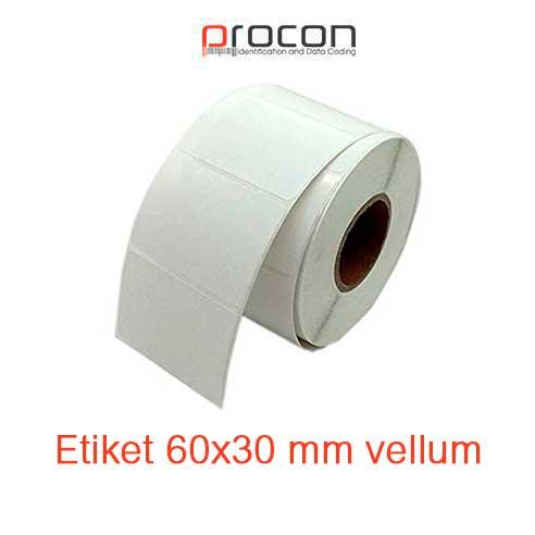 Etiket 60x30 mm vellum
